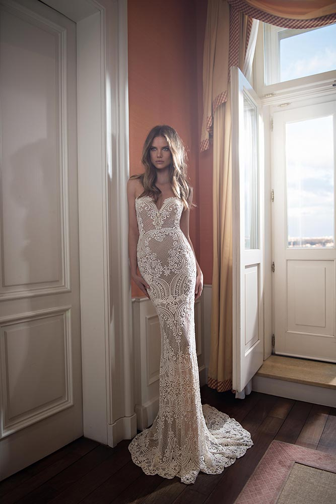 Robe Fourreau Dentelle Muse By Berta